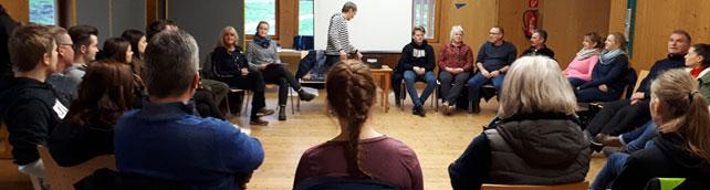 Den Teilnehmenden der Übungsleiterlehrgänge werden zahlreiche Informationen vermittelt.